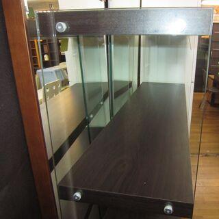 R007 ディスプレイラック グラスシェルフ 強化ガラス 幅120cm 美品 − 愛知県