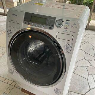 即決ドラム式洗濯機 9k ファミリー用 給水排水ホース付 …