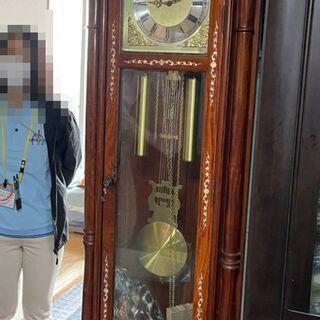即決 置時計 振り子時計 ゼンマイ 高さ2m位 中古 現状 動作...
