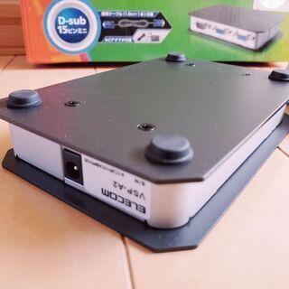 未使用♪エレコムディスプレイ分配器!300MHz対応 2分配 - パソコン