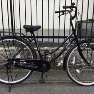 【ネット決済】動作・美品車 26インチ自転車・ブラック
