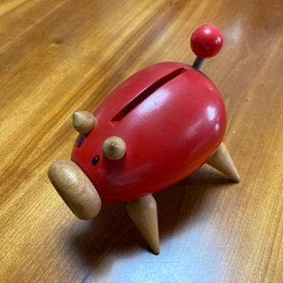 【インテリア】BEAMS ミッドセンチュリー 豚の貯金箱(赤)