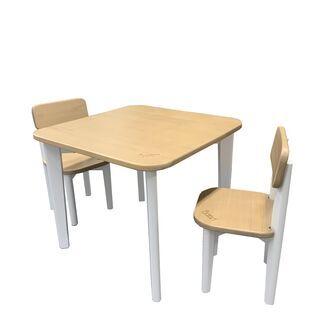 BOORI キッズテーブルセット(テーブル+チェア2脚セッ…