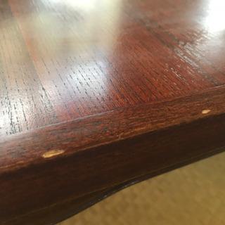 【ネット決済・配送可】四つ足テーブル 茶色