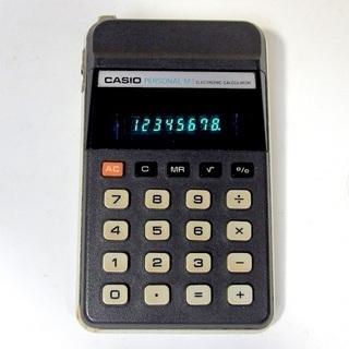 CASIO カシオ レトロ 電卓 パーソナルM-1 蛍光管…