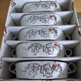 葡萄柄 陶器プレート5枚