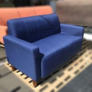 オーヤマ ファブリックソファ2P FBS-2P【自社配送は札幌市内限定】2人掛けソファ 布製 ファブリック 2人掛け シンプル 椅子 の画像