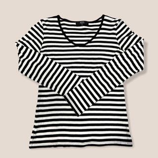 【ネット決済】AZUL by moussy ボーダーロングTシャツ