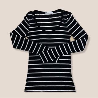 【ネット決済】SLY ボーダーロングTシャツ