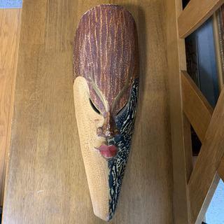 骨董 アンティーク 顔 木彫り 飾り お土産