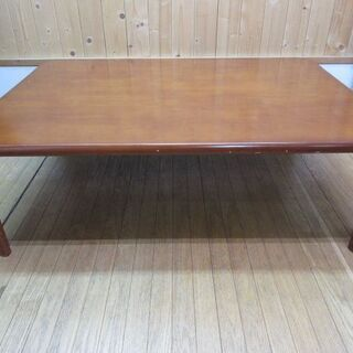 htp-459 折脚テーブル 105cm ブラウン 折りたたみ ...