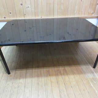 htp-460 折脚テーブル ブラック 鏡面仕上げ ダイニングテ...