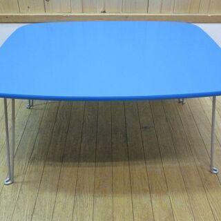 htp-469 未使用品 折脚テーブル ブルー クレヨンテーブル...