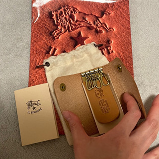 【新品未使用】イルビゾンテ 定番の三つ折りキーケース ヤケヌメ