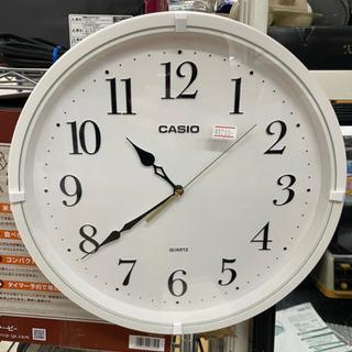 カシオ 掛け時計 アナログ ホワイト 直径33cm  リサイクル...