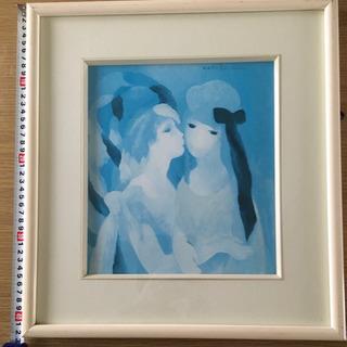 マリーローランサン 絵画「接吻」額付き