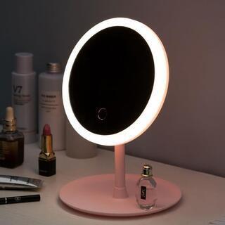 未使用・スマートタッチメイクアップミラー LED3色発光化粧鏡 ...