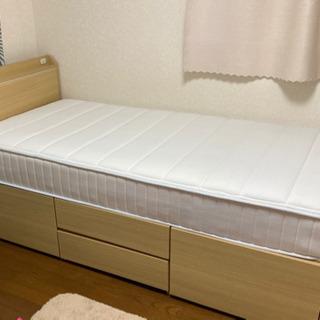 【ネット決済】【募集中】ニトリ シングルベッドマットレス付き