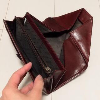 【中古】Dakota ギャルソン 牛革 長財布 えんじ - 生活雑貨