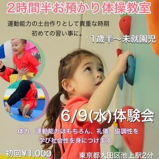 1歳半から未就園児の 保育+体操 の融合お預かり型体操教室