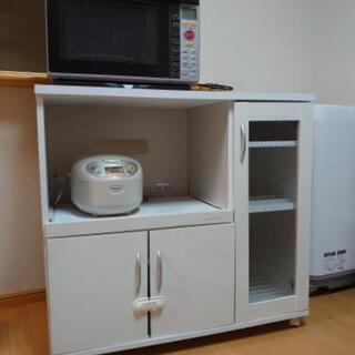 【ネット決済】食器棚 キッチンボード ホワイト 白