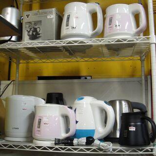 電気ケトル各種 メーカー・価格・容量いろいろ 湯沸かし コーヒー・紅茶