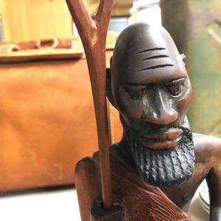 雰囲気のある木彫りの人形 FJ-0004-1F