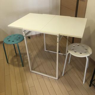 IKEA テーブル 伸縮式 伸長式