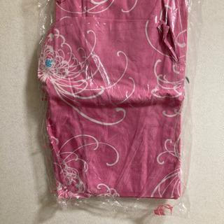 クリーニング済 浴衣 女性用 糸菊 ピンク