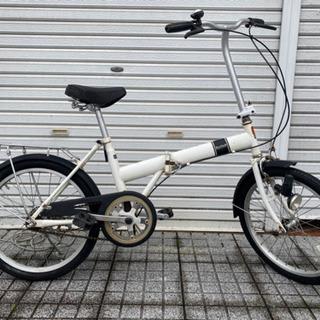 【ネット決済・配送可】【折りたたみ自転車】20インチ チェーン新...