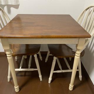 【ネット決済】カントリー調 テーブル 椅子