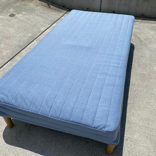 ニトリ 脚付き スプリングマットレス ベッド Sサイズ