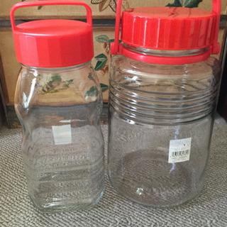 貯蔵瓶  ペット型貯蔵瓶&5号瓶  2個♪