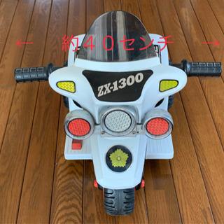 【ネット決済】警察白バイポリスバイク 子供用 電動乗用スーパーミ...