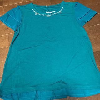 新品タグ付き しまむら ビジュー付きTシャツ サイズL