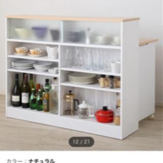 【再投稿・ニトリカウンターにもなる食器棚】