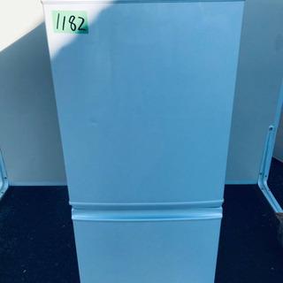 1182番シャープ✨ノンフロン冷凍冷蔵庫✨SJ-UY14-…