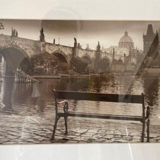 ウォールアート・プラハのおしゃれなセピアカラーの写真
