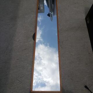 スタンドミラー フレーム木製 幅30×奥行50×高さ143cm