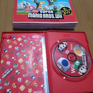 WII スーパーマリオブラザーズ ソフト&コンプリートガイド 箱...