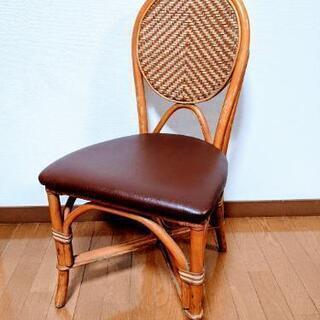 レトロ●ラタンチェア ダイニングチェア 籐 椅子