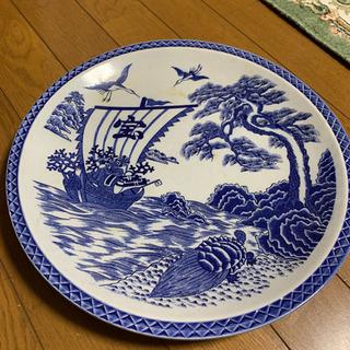 【ネット決済】有田焼 宝船 縁起物 祝皿 染付藍染 皿うどん用大...