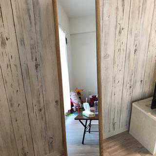 【ネット決済】木目のお洒落な鏡