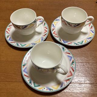 ビレロイ&ボッホ☆コーヒーカップとソーサー 3客 - 中野区