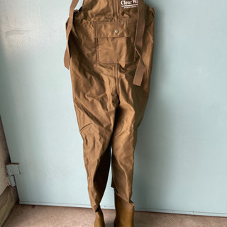 防水つなぎ エントラント ウエストフェルトウェダー  25.5cm ケルプ 防水ズボン 胴長長靴 の画像