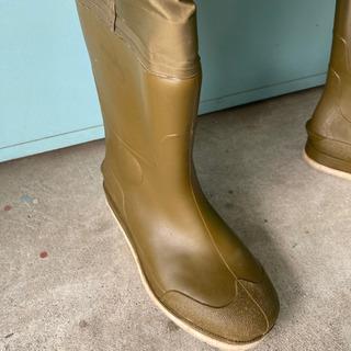 防水つなぎ エントラント ウエストフェルトウェダー  25.5cm ケルプ 防水ズボン 胴長長靴  - 一宮市