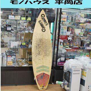 サーフボード 約6フィート 全長186×幅49×厚6cm 海 マ...