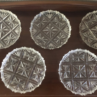 ガラスの平皿 5枚セット