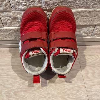 ミキハウス 靴 赤 16センチ