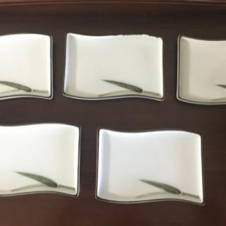 和風皿(竹のワンポイント)  5枚セット
